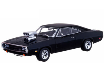 Greenlight 86232 2001 Fast & Furious Dom's 1970 Dodge Charger R/T 1:43 Black