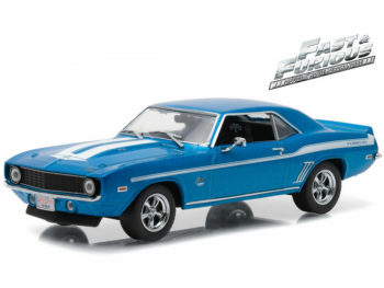Greenlight 86206 Fast & Furious Brian's 1969 Chevy Yenko Camaro 1:43 Blue