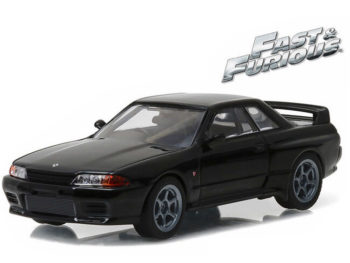 Greenlight 86229 Fast and Furious 7 1989 Nissan Skyline GT-R R32 1:43 Black