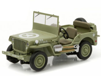 Greenlight 86307 1944 Jeep Willys C7 Army Star on Hood 1:43 Green