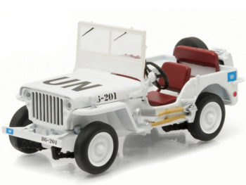 Greenlight 86308 Jeep Willys United Nations UN 1:43 White