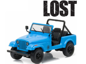 Greenlight 86309 Hollywood Lost TV Series 1977 Dharma Jeep CJ 7 1:43 Blue