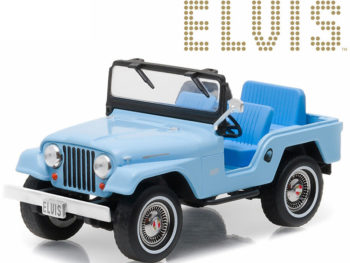 Greenlight 86310 Hollywood Elvis Presley 1963 Jeep CJ5 1:43 Blue