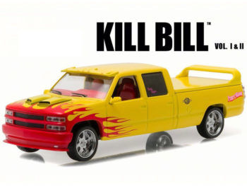 Greenlight 86481 Kill Bill Vol 1 & 2 1997 Chevy Custom Crew Cab Pussy Wagon 1:43 Yellow