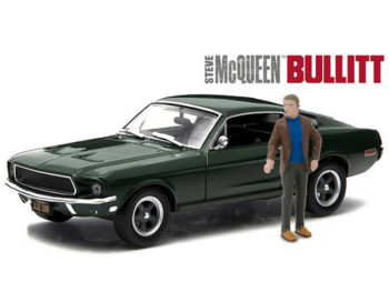 Greenlight 86433 Bullitt 1968 Ford Mustang GT 1:43 with Steve McQueen Figure Green