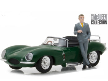 Greenlight 86434 1957 Jaguar XKSS 1:43 with Steve McQueen Figure Green