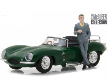 Greenlight 86434 1957 Jaguar XKSS 1:43 with Steve McQueen Figure Green