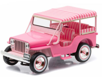 Greenlight 86472 Elvis Presley 1960 Jeep Surrey CJ3B 1:43 Pink
