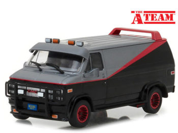 Greenlight 86515 The A Team 1983 GMC Vandura 1:43 Black Grey