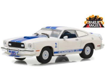 Greenlight 86516 Charlie's Angels Jill Munroe's 1976 Ford Mustang Cobra II 1:43 White
