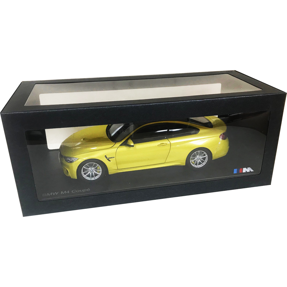 Paragon 97103 Bmw M4 Coupe 1:18 Austin Yellow With Carbon