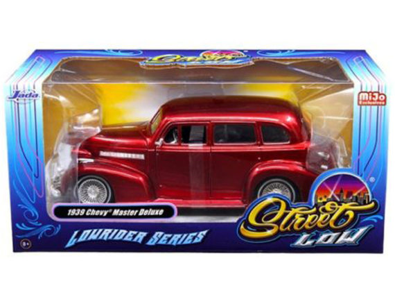 Jada 98914 Street Low Lowrider Series 1939 Chevy Master Deluxe 1:24 Red