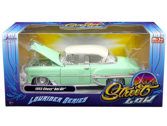 Jada 98917 Street Low Lowrider Series 1953 Chevy Bel Air 1:24 Light Green