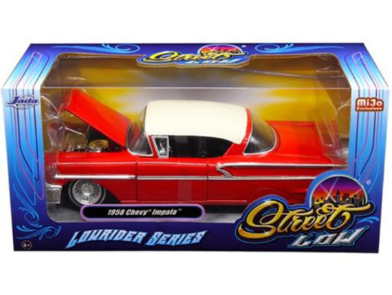 Jada 98920 Street Low Lowrider Series 1958 Chevy Impala 1:24 Red