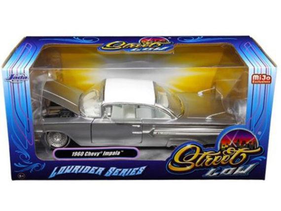 Jada 98926 Street Low Lowrider Series 1960 Chevy Impala 1:24 Silver