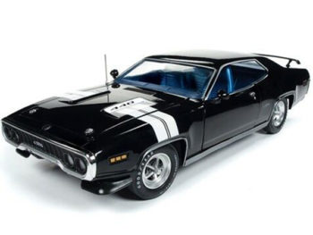 Autoworld Amm1133 1971 Plymouth GTX 1:18 Formal Black