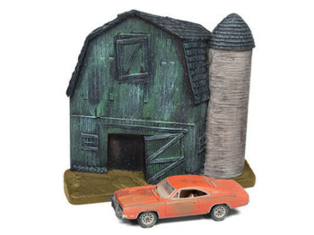 Johnny Lightning JLSP056 Barn Finds Diorama 1969 Dodge Charger 1:64 Orange
