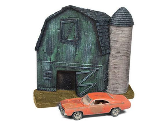 Johnny Lightning JLSP056 Barn Finds Diorama 1969 Dodge Charger 1:64 Orange
