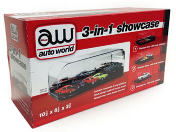 AutoWorld AWDC004 Clear Display Show Case 3-in-1 for 1:64 1:43 1:24 Model Car