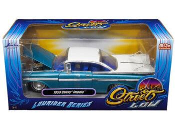 Jada 98923 Street Low Lowrider Series 1959 Chevy Impala 1:24 Blue / White