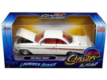Jada 98929 Street Low Lowrider Series 1961 Chevy Impala 1:24 White