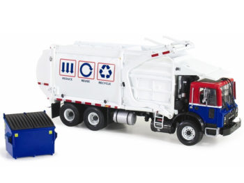 First Gear 10-3993 Mack Terrapro with Wittke Front Load Trash Refuse Truck 1:34