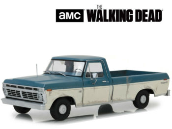 Greenlight 12956 Walking Dead 1973 Ford F-100 Pick Up Truck 1:18 Blue