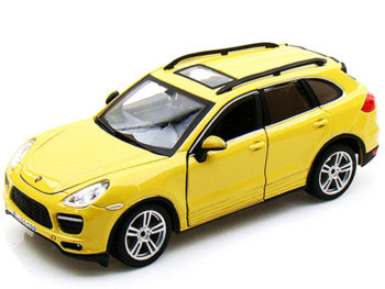 Bburago 18-21056 Porsche Cayenne Turbo 1:24 Yellow