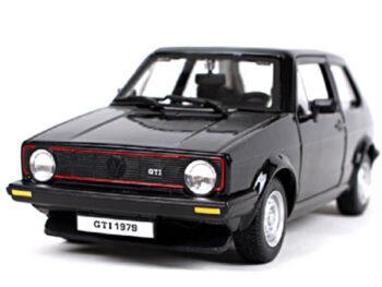 Bburago 18-21089 VW Volkswagen Golf Mk1 GTI 1:24 Black