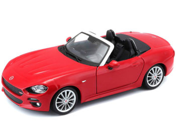 Bburago 18-21083 Fiat 124 Spider 1:24 Red