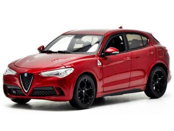 Bburago 18-21086 Alfa Romeo Stelvio Quadrifoglio 1:24 Red