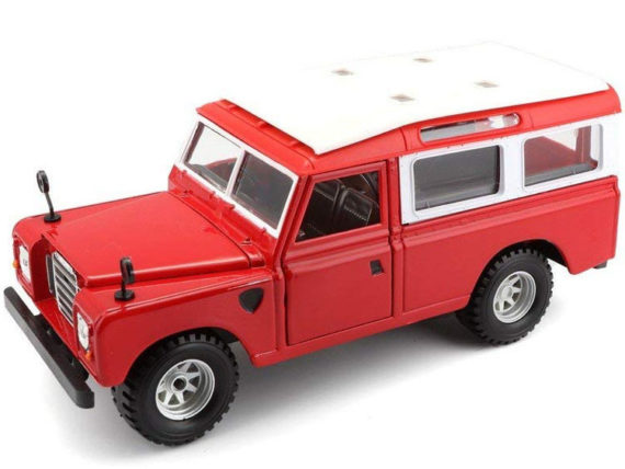 Bburago 18-22063 Old Range Land Rover 1:24 Red
