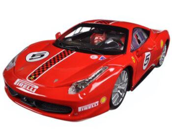 Bburago 18-26302 Ferrari 458 Challenge #5 1:24 Red