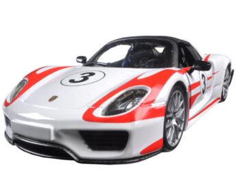 Bburago 18-22009 Porsche 918 Spyder Weissach #3 1:24 White