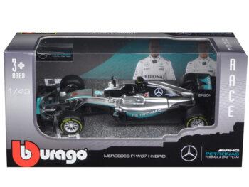 Bburago 18-38026 NR Mercedes Benz AMG Petronas Formula F 1 W07 Hybrid 1:43 #6 Nico Rosberg
