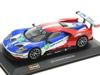 Bburago 18-41158 2017 Ford GT Race Car Team UK 1:32 #67 Red / Blue / White
