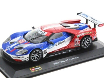 Bburago 18-41159 2017 Ford GT Race Car Team UK 1:32 #66 Red / Blue / White