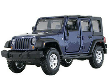 Bburago 18-43012 Jeep Wrangler Rubicon Unlimited 1:32 Blue