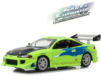 Greenlight 19039 Artisan Collection Fast & Furious 1995 Mitsubishi Eclipse 1:18 Green