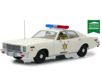 Greenlight 19055 Hazzard County Sheriff 1977 Plymouth Fury 1:18 White