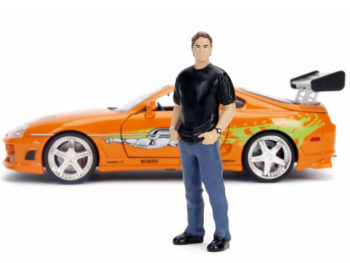 Jada 30739 Fast & Furious Toyota Supra 1:24 with Brain Figure Orange