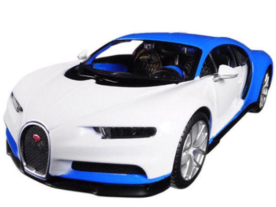 Maisto 32509 Exotics Bugatti Chiron 1:24 Blue / White