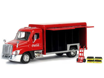 Motor City Classics 450060 Coca Cola Coke Beverage Delivery Truck 1:50 with Handcart & 4 Bottle Cases Red