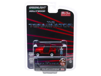 Greenlight 51211 Terminator Sarah Connor's 1983 Jeep CJ-7 Renegade 1:64 with Figure Red