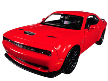 Motormax 79350 2018 Dodge Challenger SRT Widebody 1:24 Red