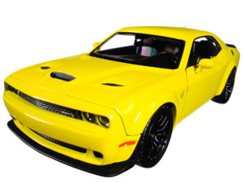 Motormax 79350 2018 Dodge Challenger SRT Widebody 1:24 Yellow