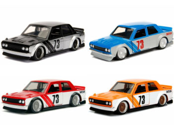 Jada 30950 WA1 JDM Tuners 1973 Datsun 510 Widebody 1:32 4 Colors Set