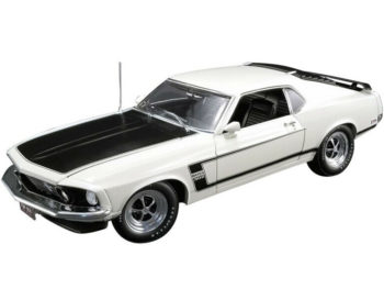Acme A1801831 50th Anniversary 1969 Ford Mustang Boss 302 1:18 White