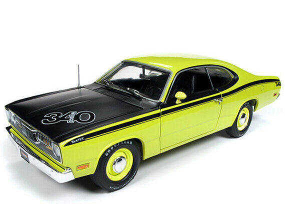 Autoworld Amm1154 1971 Plymouth Duster 340 1:18 Green