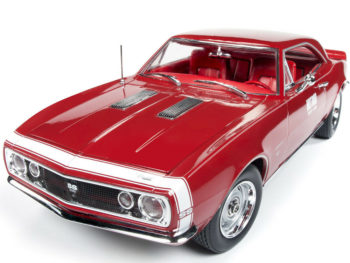 Autoworld Amm1163 1967 Chevrolet Camaro SS Hot Rod Test Car 1:18 Red